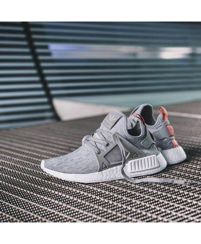 Womens Adidas NMD W Primeknit Solid Grey Raw Pink Shoes Color is very  conspicuous, very trendy colors, welcome to shopping!