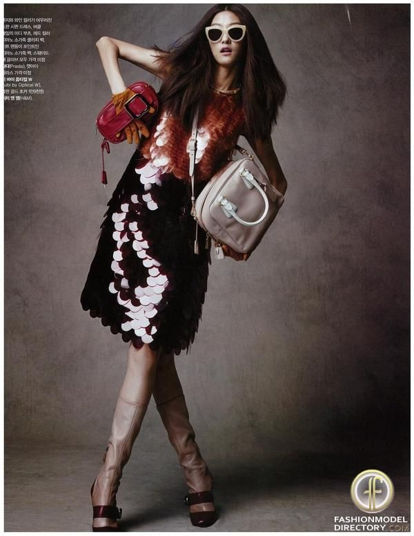 "Ji Hye Park featured in the Marie Claire Korea editorial ""My Lovely Puppies"" from August 2012 , showing Prada , Ksubi , H"