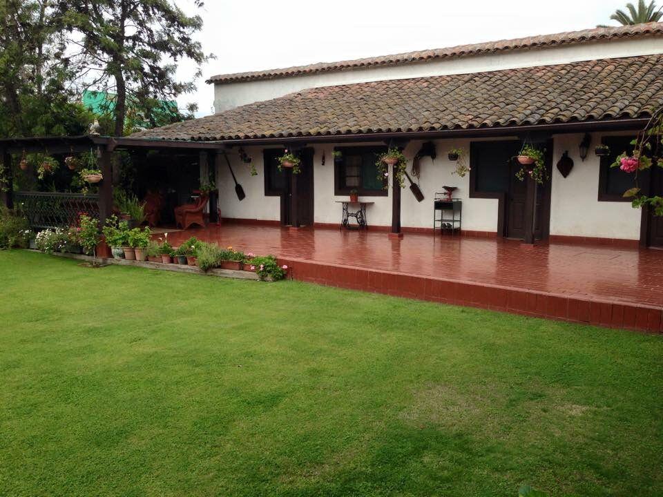 Corredor Ancho Y Salida Al Jardin Spanish Style Garden Buildings House Styles