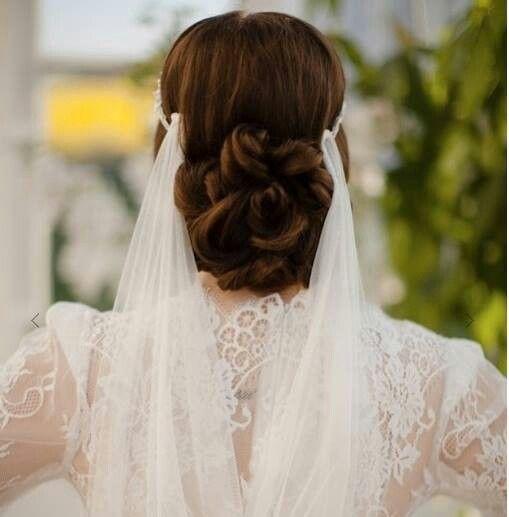 Wedding Entourage Hairstyle: Jannie Baltzer Couture Headpiece...