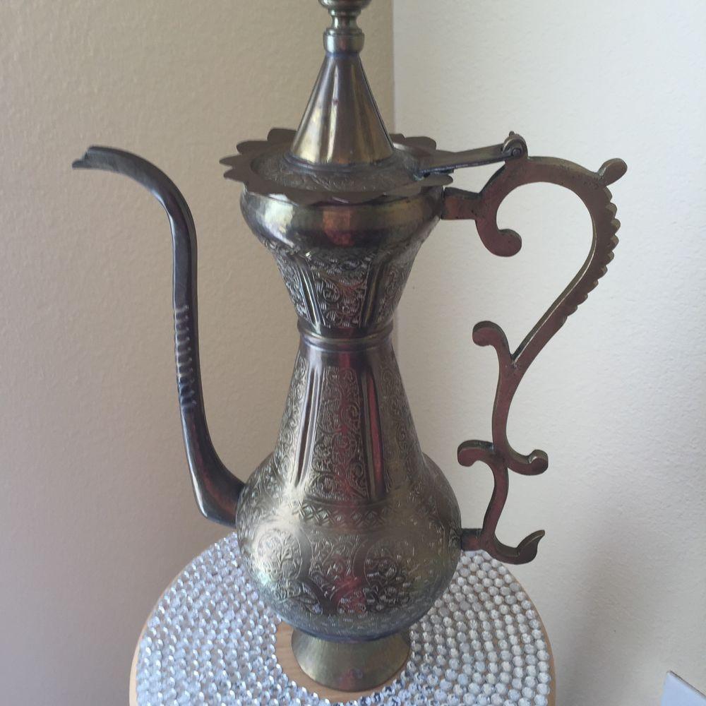 Beautiful Turkish Brass Pot Pitcher ANTIQUE