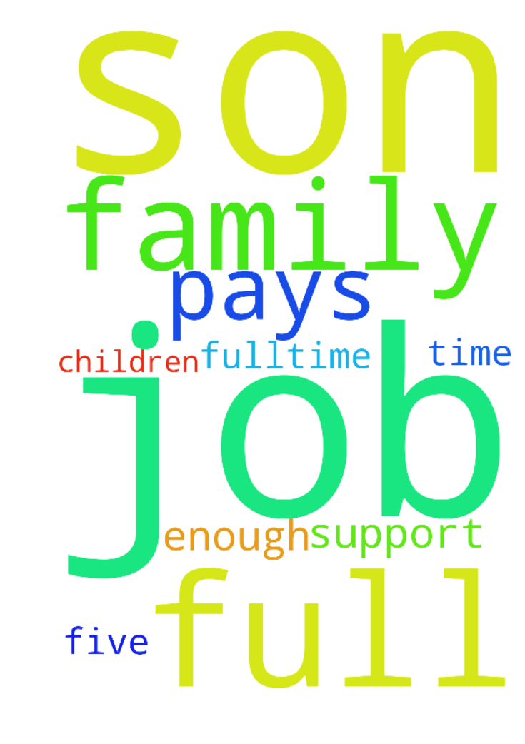please pray for my son to get a full-time job that - please pray for my son to get a full-time job that pays enough to support his family of five children Posted at: https://prayerrequest.com/t/dfW #pray #prayer #request #prayerrequest