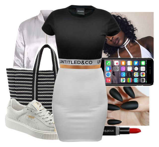 """""""Untitled #375"""" by ajdagoddess ❤ liked on Polyvore featuring Off-White, B Brian Atwood, Smashbox, Puma and CO"""