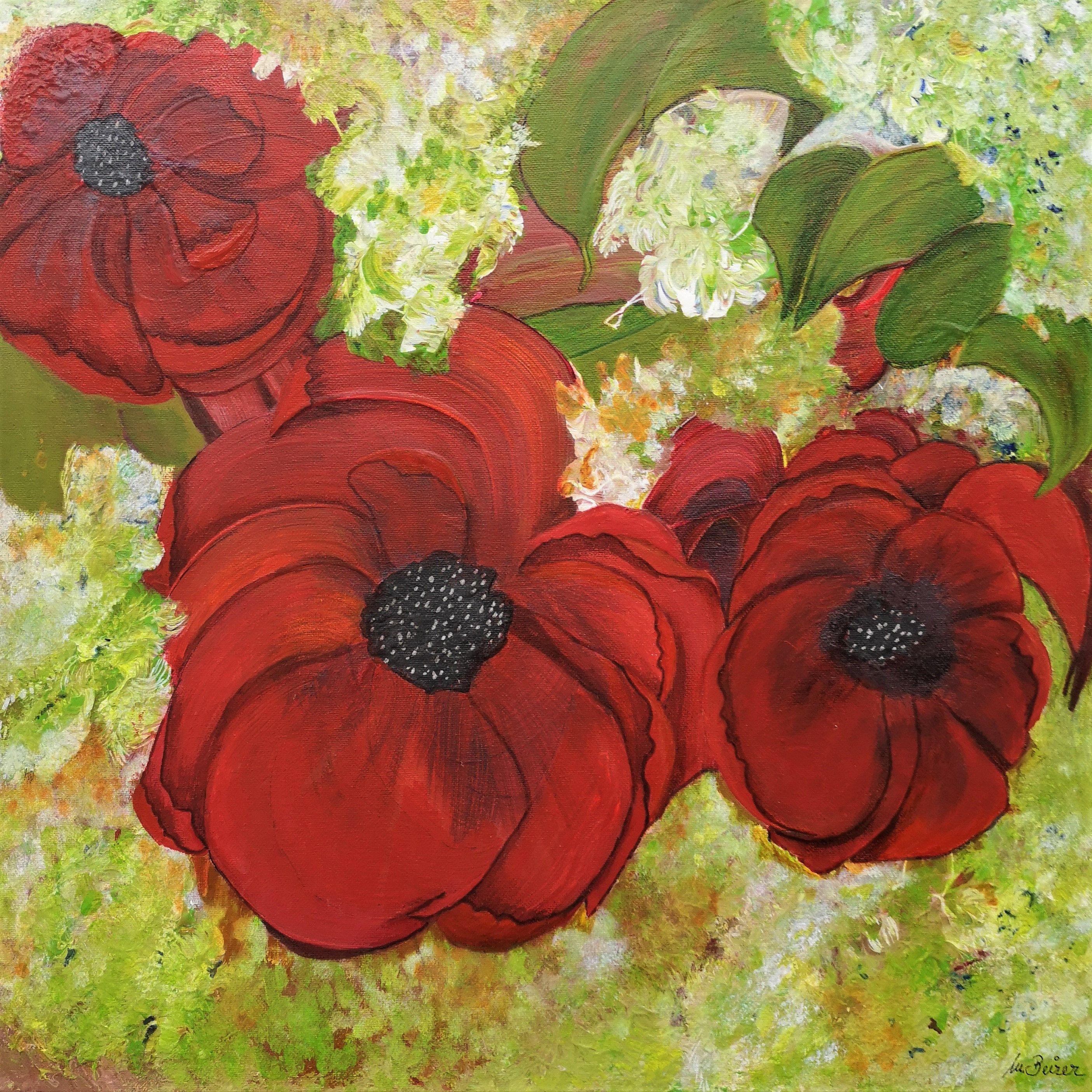 Mohnblumen 3 Acryl Auf Leinwand Keilrahmen 50 X 50 Cm Mit Firnis Geschutzt Handarbeit Aus Bayern Natur Blumen Mohn Bluten In 2020 Keilrahmen Mohnblume Handarbeit