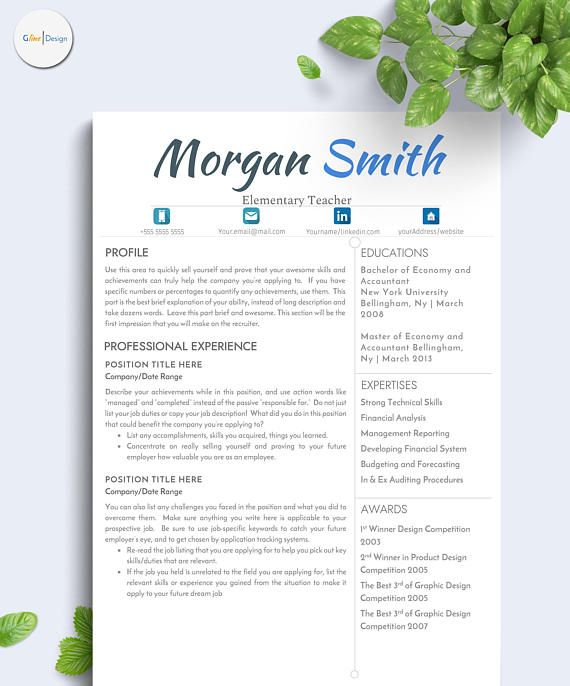 Plant Accountant Sample Resume Simple Resume Template  Digital Resume Template  Resume  Resume .