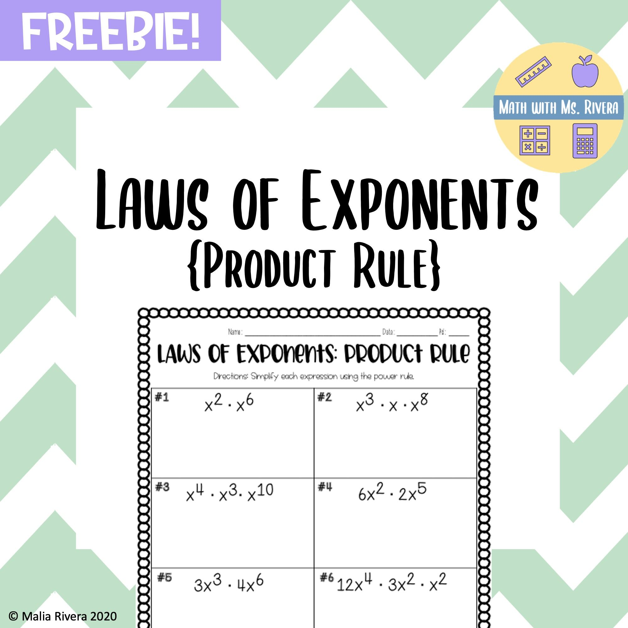 Laws Of Exponents Product Rule