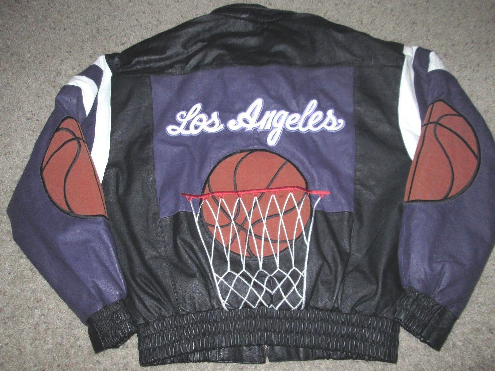 Vtg Leather Jacket Los Angeles Lakers Starter Champion Basketball Supreme Harley Leather Jacket Los Angeles Lakers Jackets