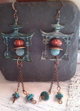 À vendre sur #vintedfrance ! http://www.vinted.fr/accessoires/boucles-doreilles/30480738-pendentifs-doreilles-pagode
