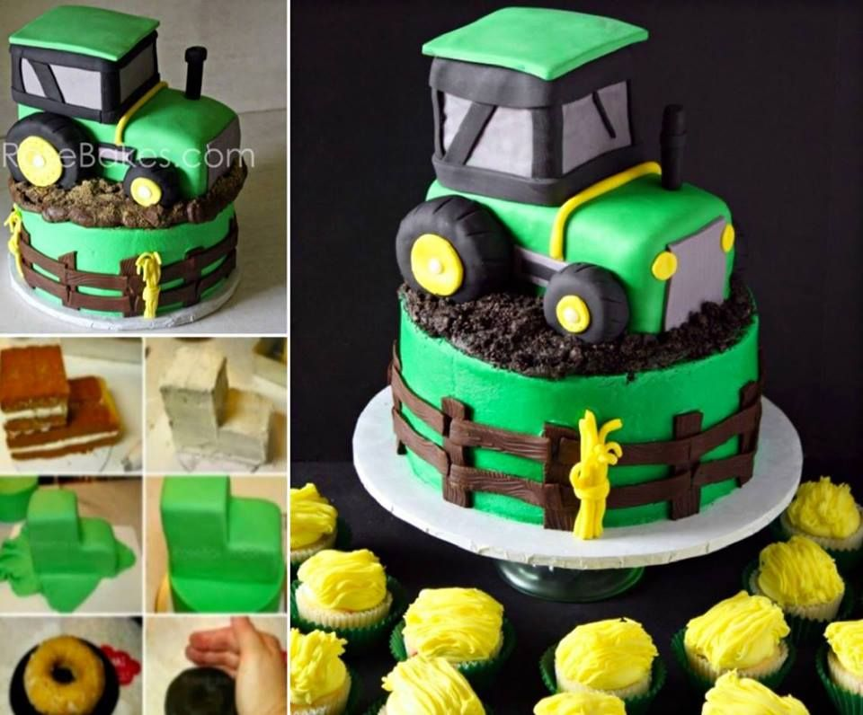 Wonderful DIY Cool John Deere Green Tractor Cake Cake Food and
