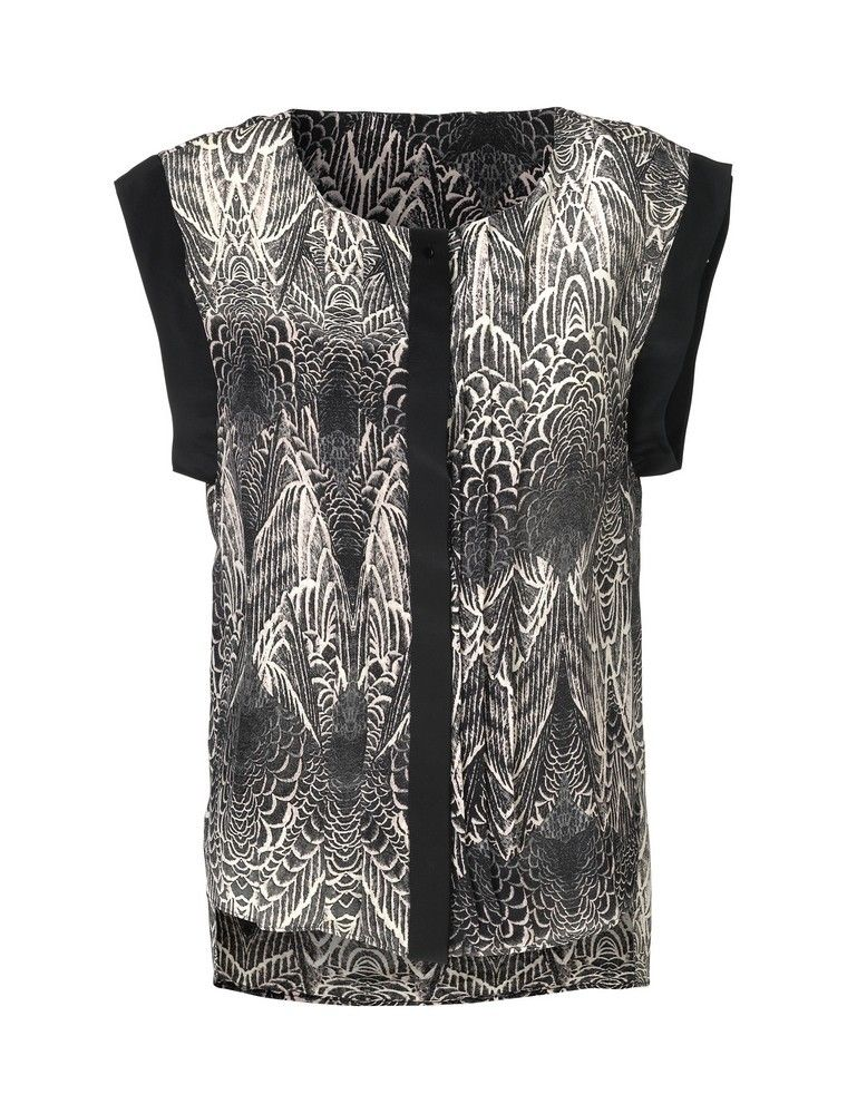 587ccf27b35 Love Day pinion silke top med print from DAY BIRGER ET MIKKELSEN ...