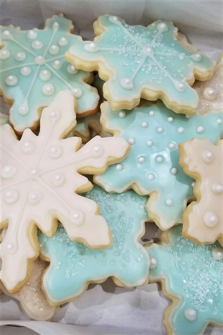 Sparkling Snowflake Cookies Christmas Cookie Swap Snowflake