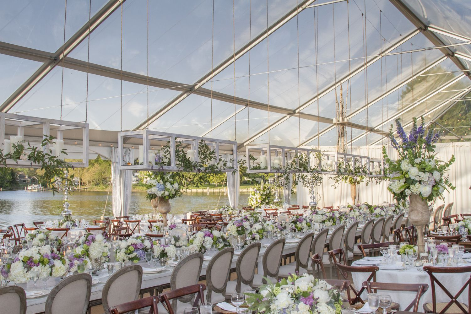 Beautiful Waterfront Wedding In One Of Our Clear Tents