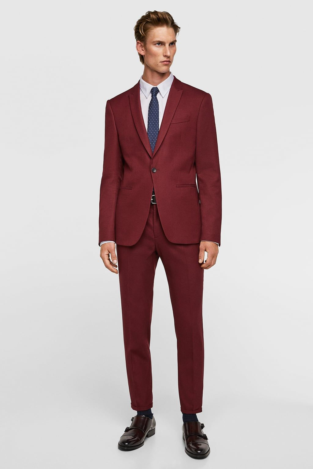 9277dbae Image 1 of CROPPED TEXTURED WEAVE SUIT PANTS from Zara Suit Jacket, Suit  Pants,