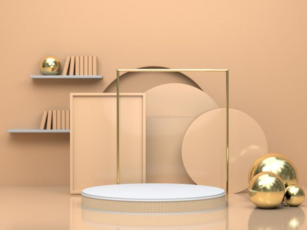 3d render geometric mockup   Premium Photo #Freepik #photo #background #mockup #abstract #geometric