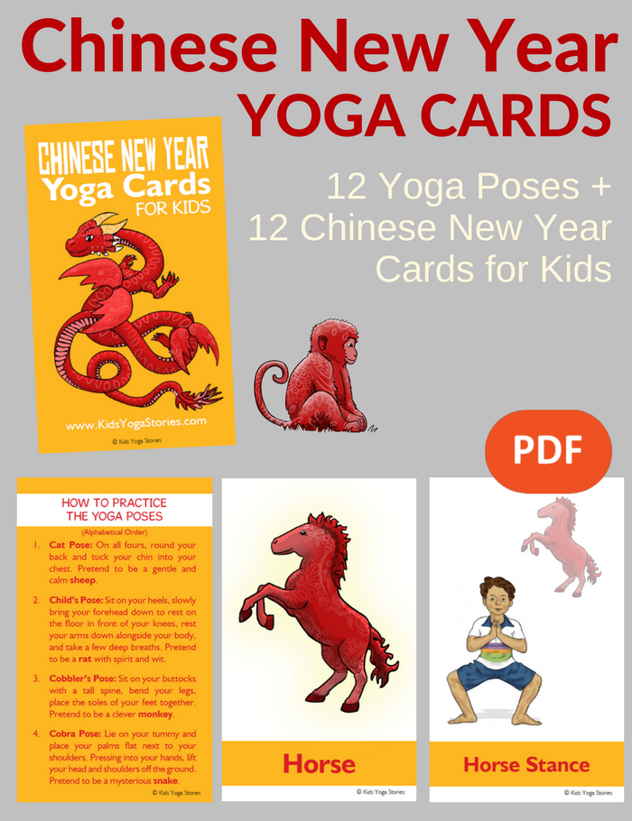 chinese new year yoga cards for kids pdf download yoga pdf and - Chinese New Year Animal