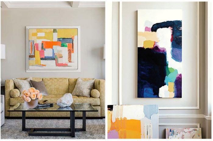 DIY inspiration :: Large Canvas Art   Modern art diy, Diy ...