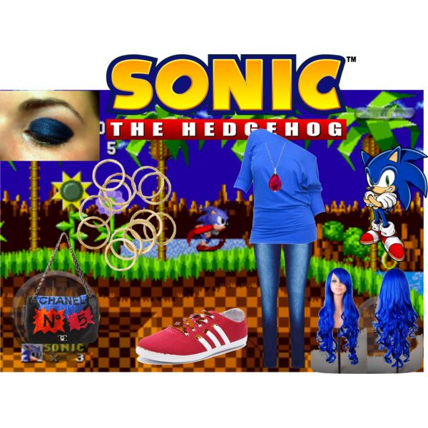 Throwback Thursday: Sonic The Hedgehog by sstark2010 on Polyvore featuring adidas NEO, Chanel and Baccarat