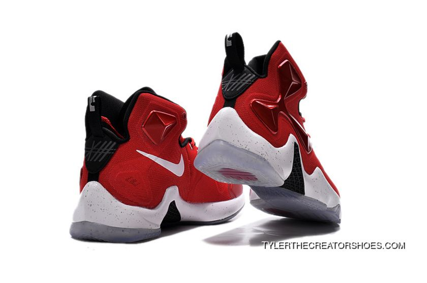 official photos db28a 4d3fe Best Nike Lebron 13 Gym Red Black White Men Basketball Shoes For ...