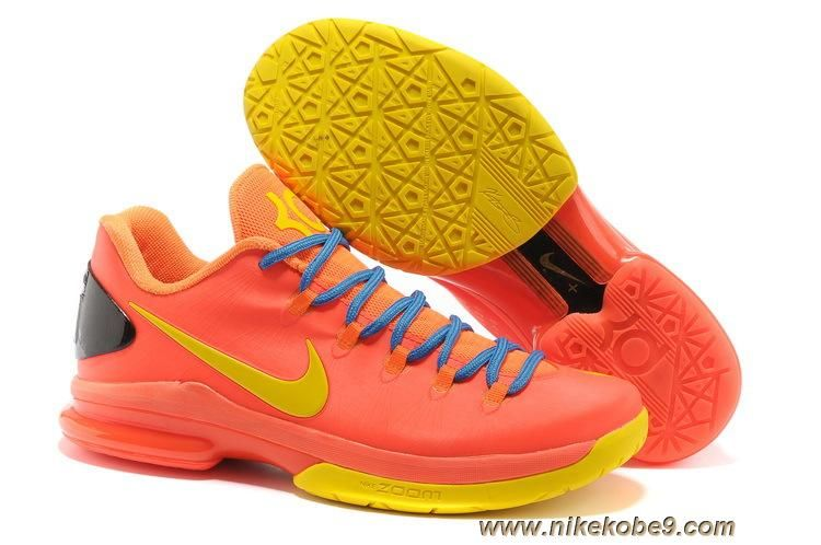detailed look d50d6 33f96 Nike KD V Elite 585386-800 Team Orange True Yellow-Total Orange-Photo Blue  Online