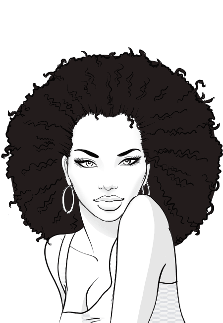 How To Draw A Black Girl Step By Step : black, Drawing,, Hairstyles,, Drawing