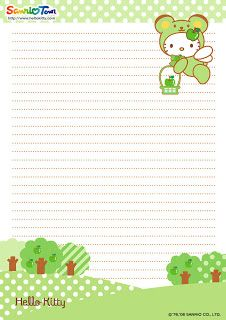 photo about Printable Letter Papers identify Adorable Good day Kitty absolutely free printable letter paper stationary