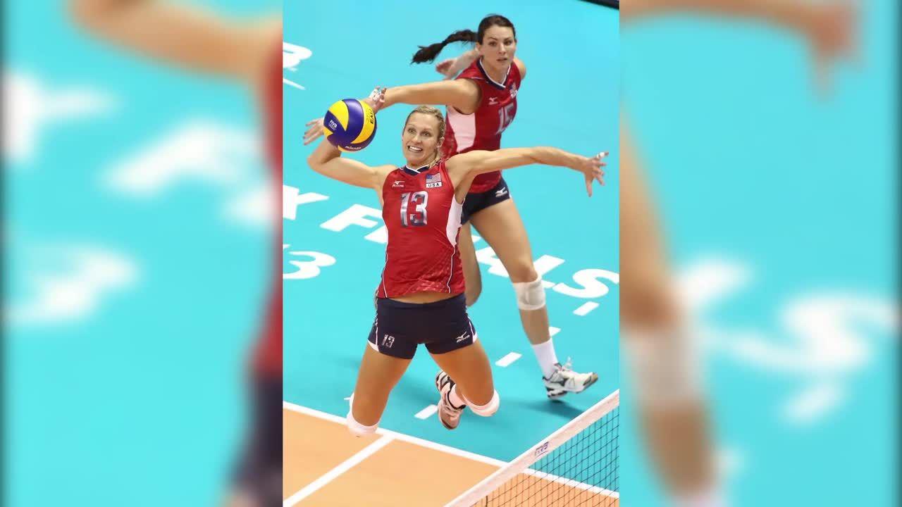 Meet Christa Harmotto Dietzen Middle Blocker For Usa Volleyball Olympic Volleyball Usa Volleyball Volleyball Quotes