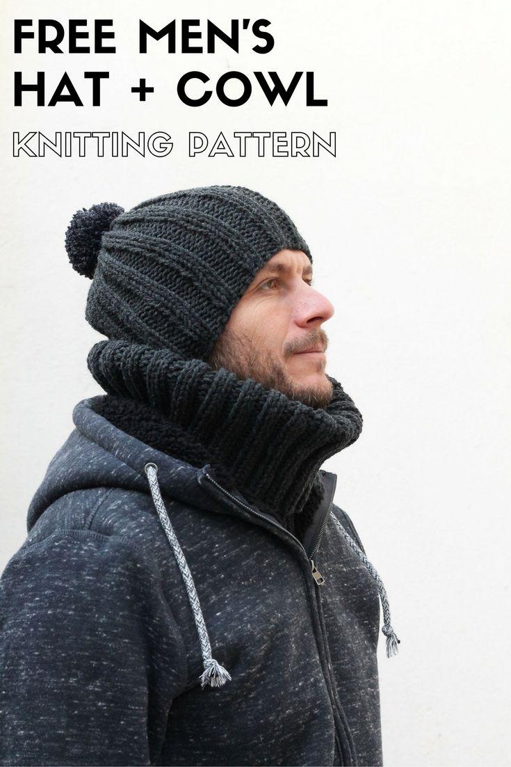 Free Men\'s Hat Knitting Pattern | Knitting patterns, Patterns and Easy