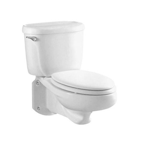 Wall Mounted Back Outlet Toilet Complete Less Seat Pressure Assisted Siphon Jet Action Elongated Wall Mounted Toilet Wall Hung Toilet American Standard American standard rear outlet toilet