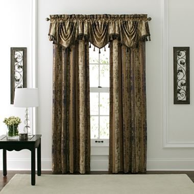 American living morrison rod pocket curtain panel for Jcpenney living room curtains
