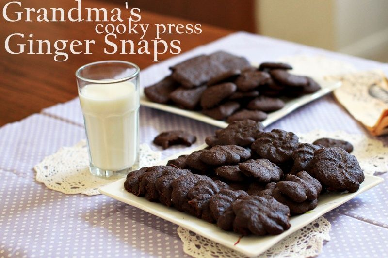 Cookie Press Ginger Snaps