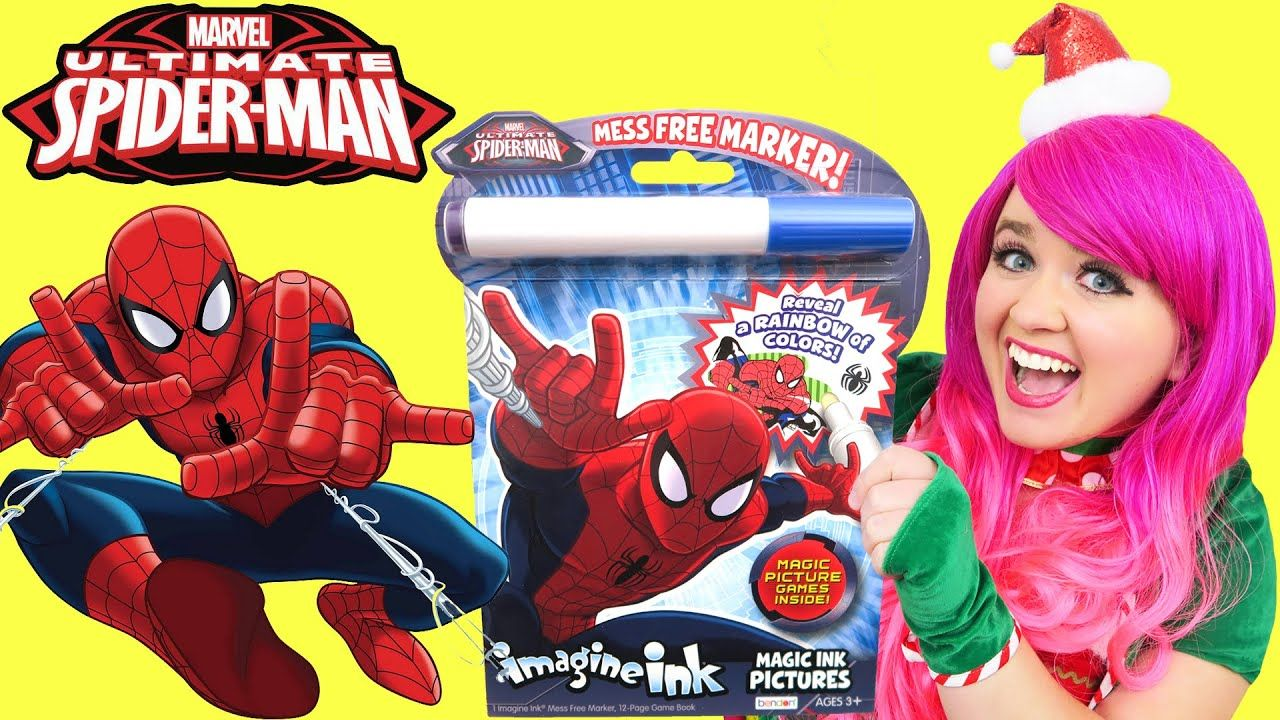 Pin By Charity Paige Scott On Kimmi The Clown Ultimate Spiderman Spiderman Color Activities