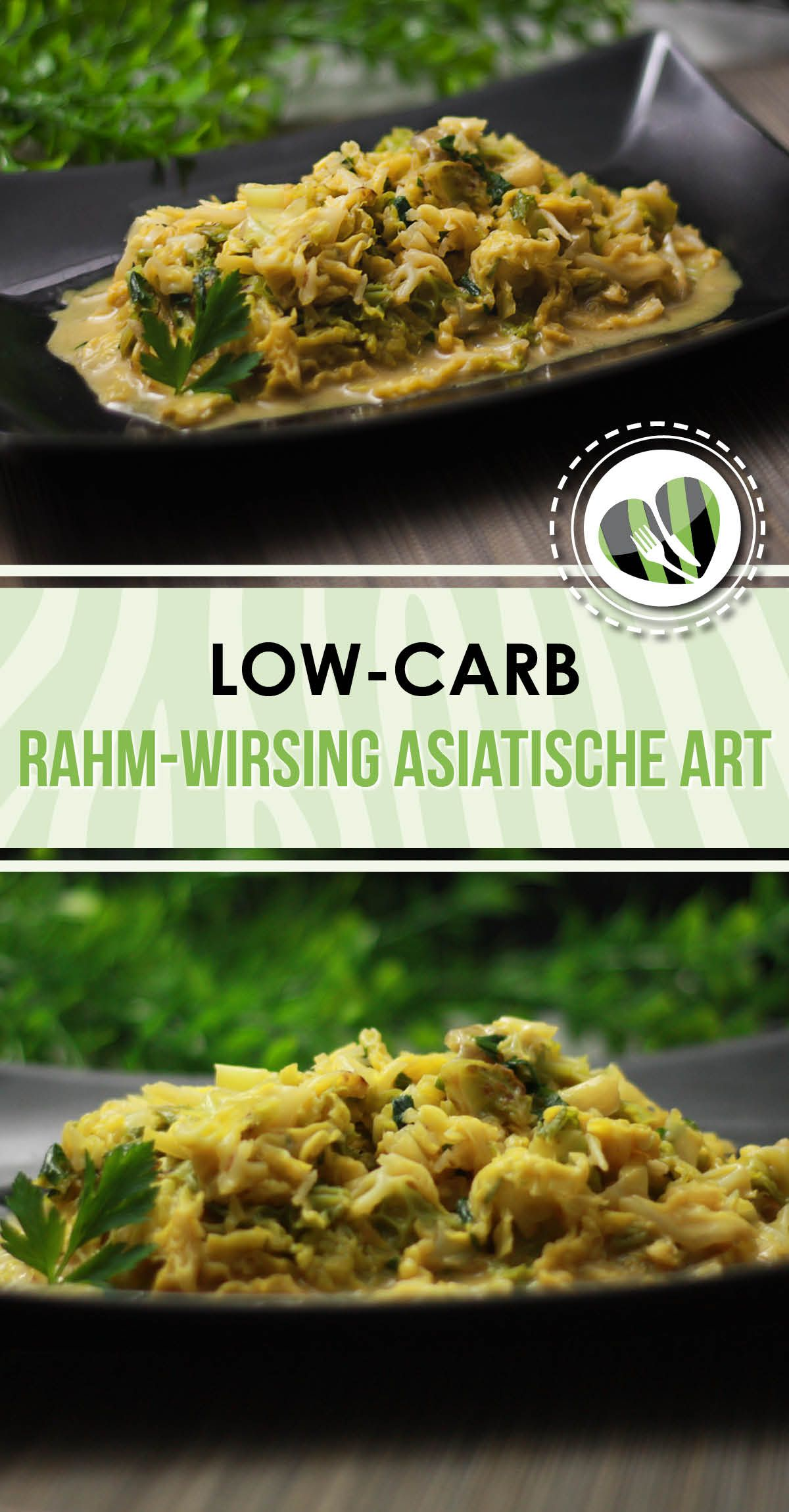 Das Rahm-Wirsing nach asiatischer Art ist low-carb und vegan.