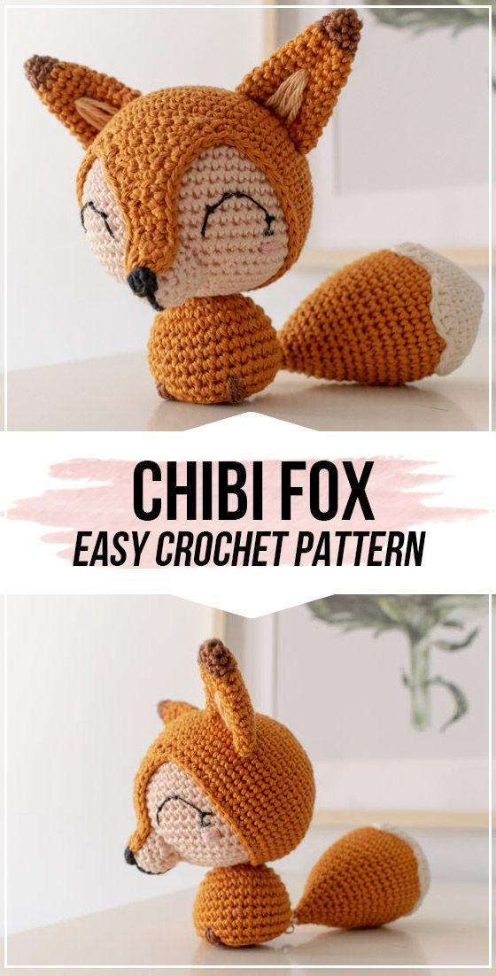 crochet Cotton Tail the Chibi Fox pattern
