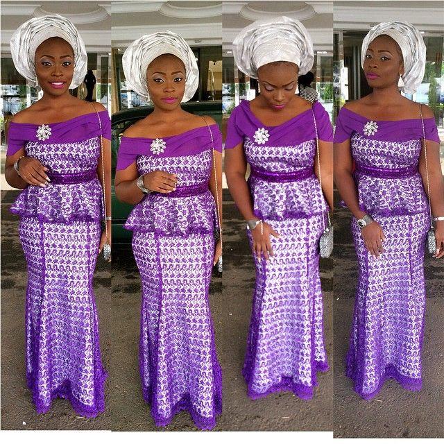 Beautiful Cord Lace 2016 Aso Ebi Style African Fashion Love It