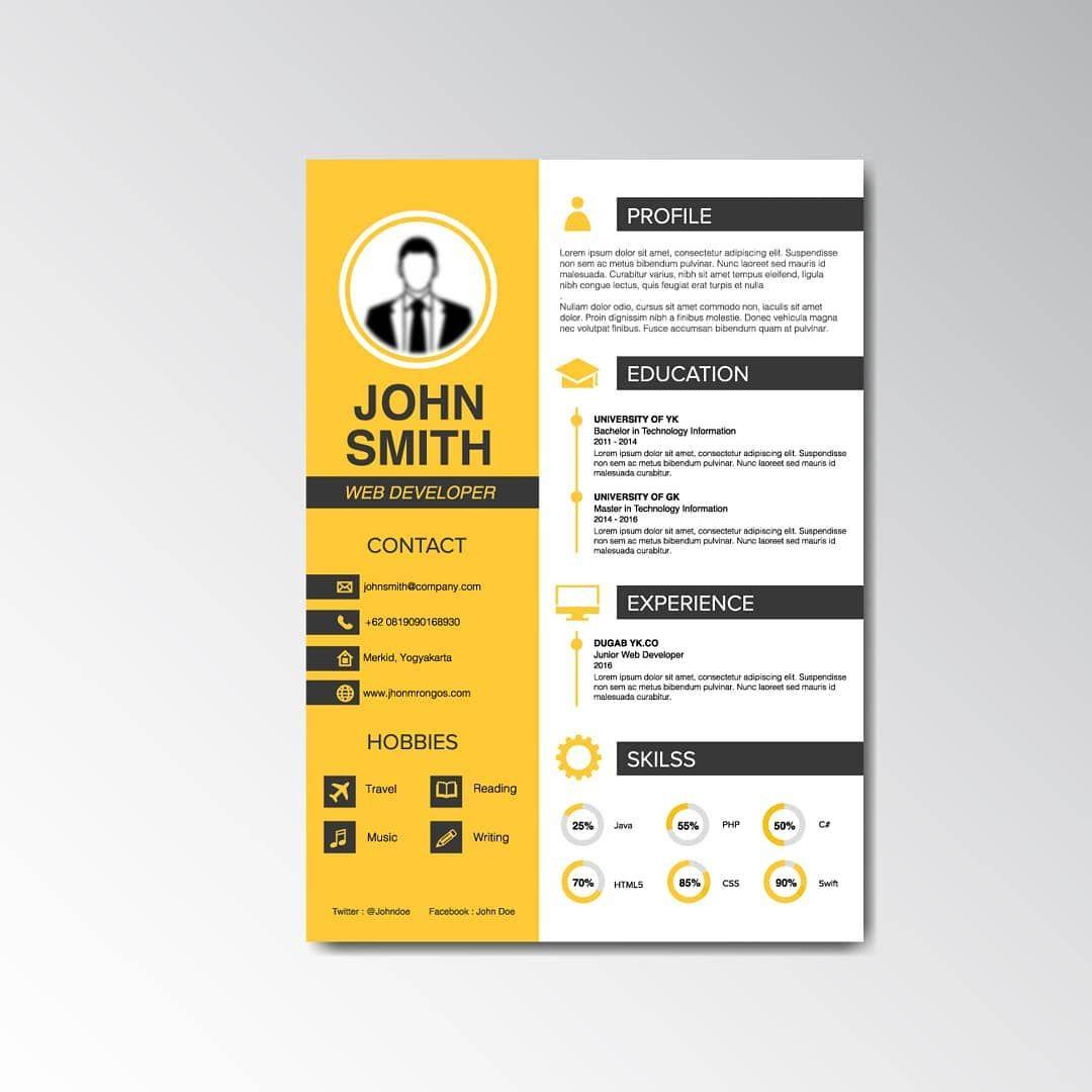 Modele De Cv En Ligne A Telecharger Et Personnaliser Avec Microsoft Word Ou Powerpoint Nouvel Curriculum Vitae Design Resume Design Template Curriculum Vitae