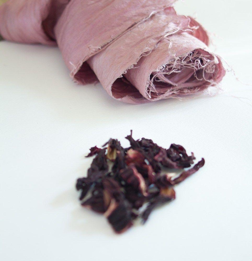 teinture végétale : teindre du tissu naturellement - vert cerise
