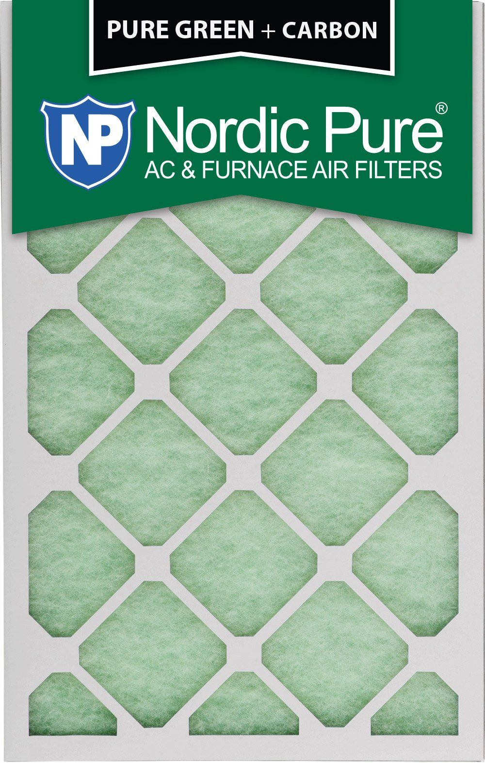 Nordic Pure 16x20x1 Pure Green Plus Carbon EcoFriendly AC