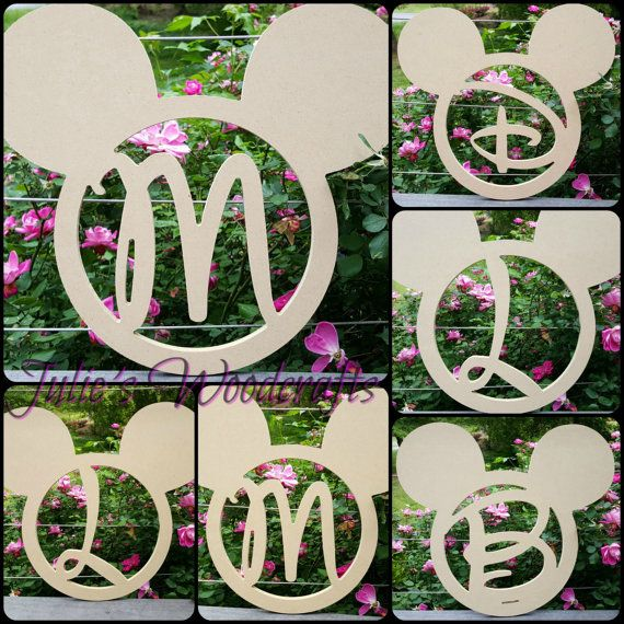 This Adorable Mickey Mouse Head Is Monogrammed With The