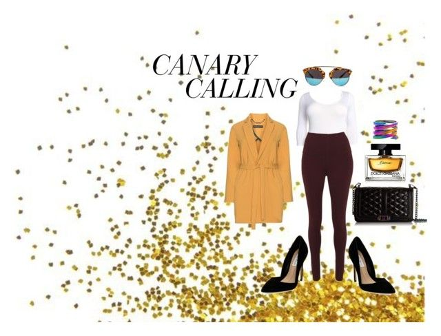 """""""CANARY"""" by crvygrlstyleandshop on Polyvore featuring Manon Baptiste, Rebecca Minkoff, Steve Madden, Dolce&Gabbana, women's clothing, women's fashion, women, female, woman and misses"""