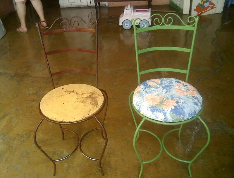 Mejorando las sillas de Concorbar...