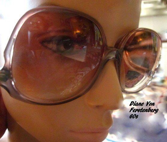 Vintage Diane Von Furstenberg Retro EyeGlasses Frames Women's Oversized #DianeVonFerstenberg