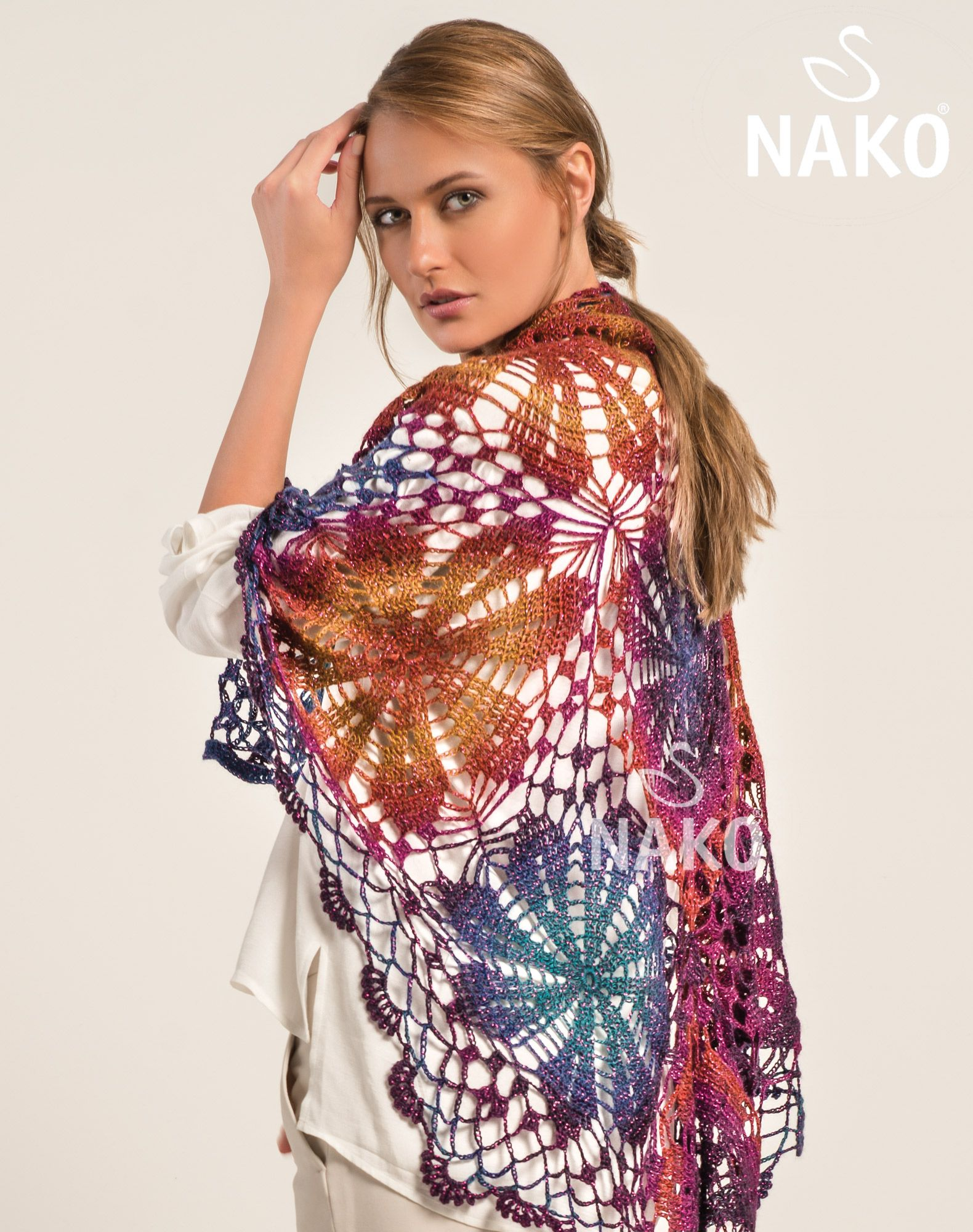 KM-112 Arya Ebruli Sim Shawl | Crochet - clothes | Pinterest ...