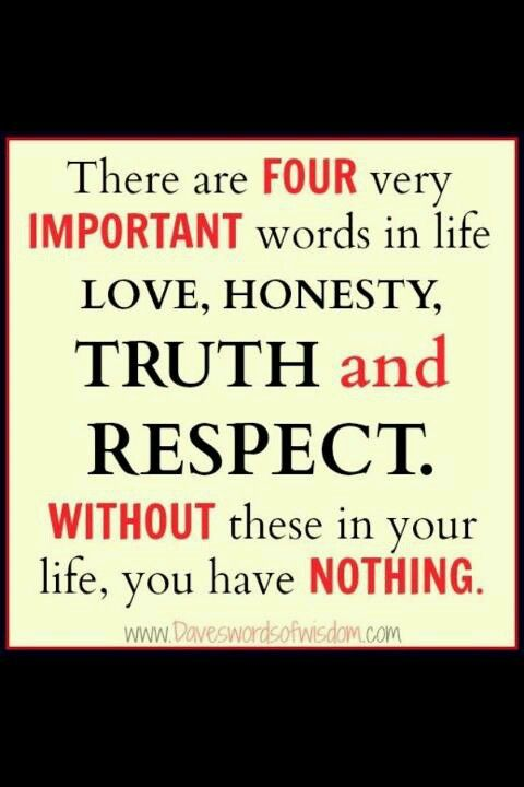 Love Honesty Truth Respect Inspirational Quotes Quotes