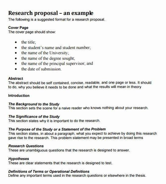 Research Proposal Outline Template Beautiful How To Write