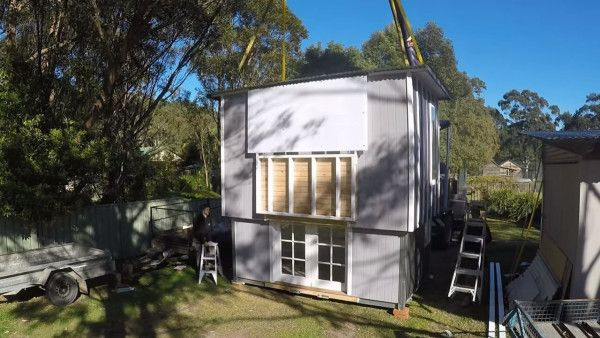 This Is A Modern Tiny Cabin And A Two Story Pop Up Tiny House. The Cabin  Has A Shed Style Roof And Plenty Of Windows On The Outside. When You Go  Inside, ...