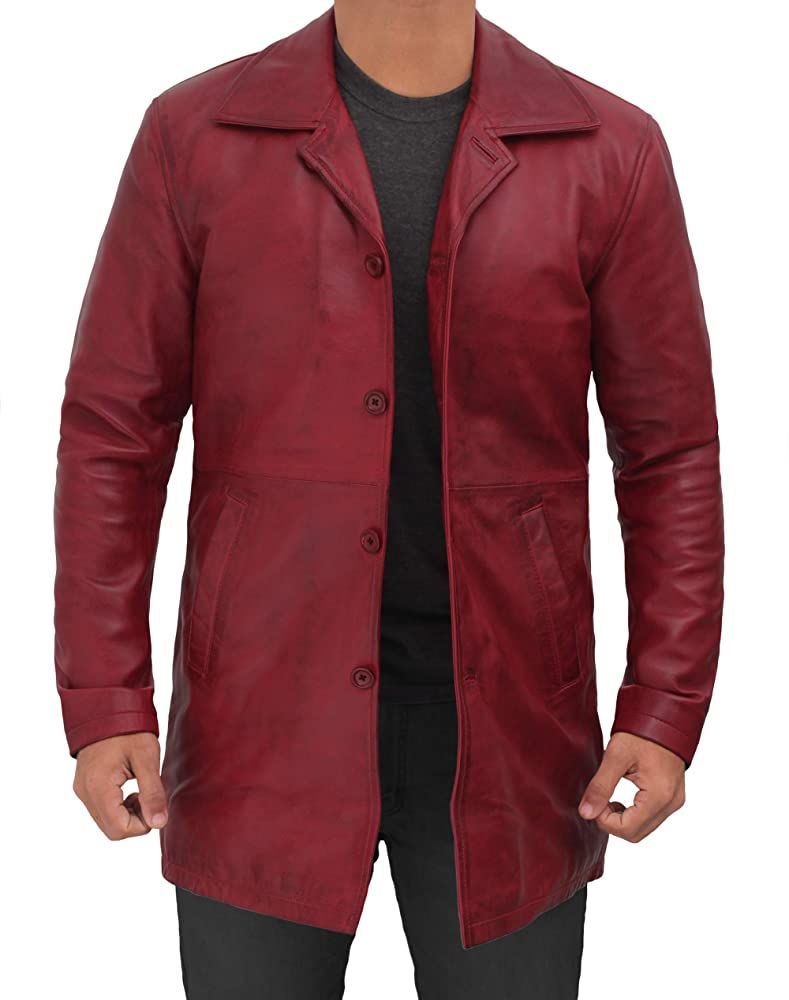 Fjackets Motorcycle Jacket New 1507111 Supernatural Maroon Wax Xs At Amazon Men S Cl Brown Leather Jacket Men Distressed Leather Jacket Mens Leather Coats [ 1000 x 789 Pixel ]