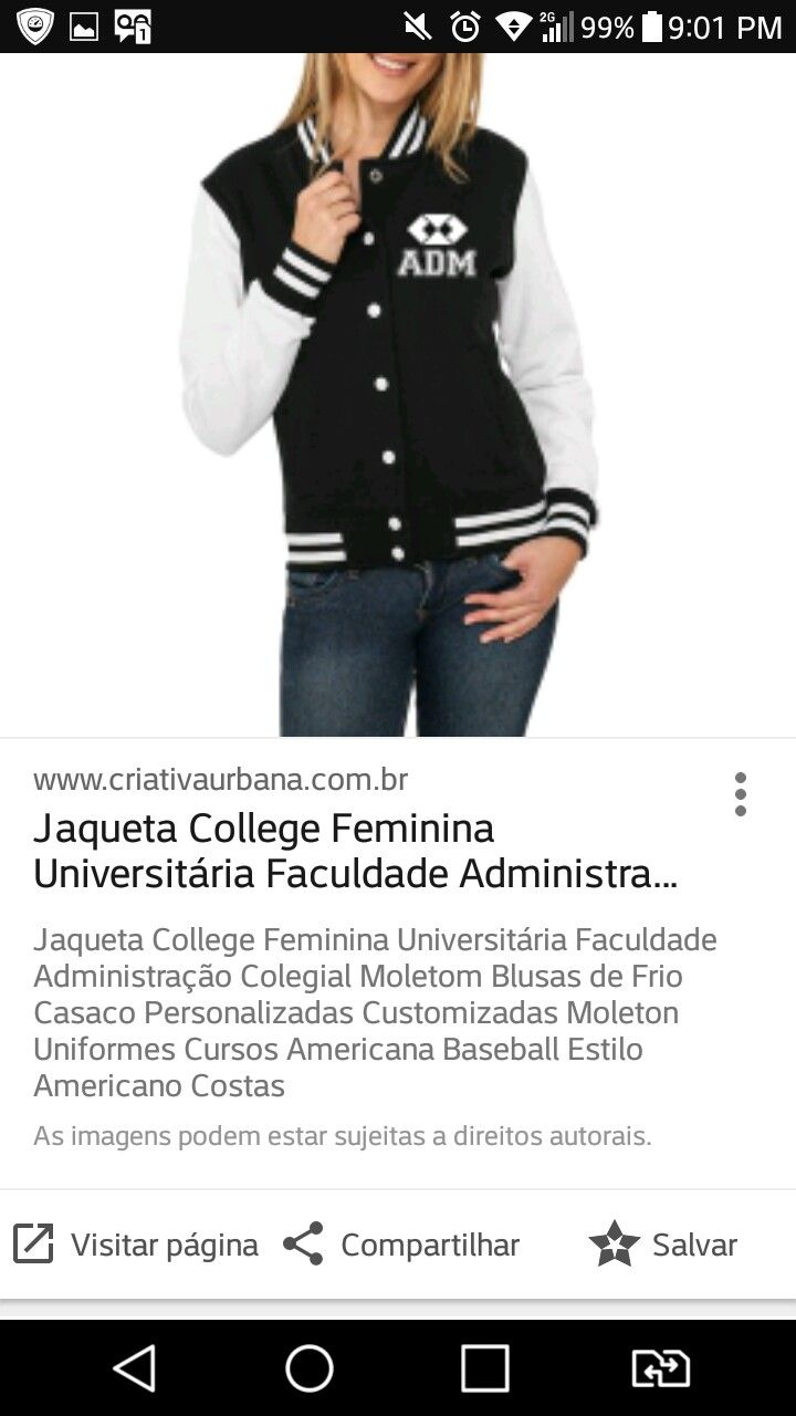 Jaqueta College Feminina Personalizada Americana Colegial 5f1c908f78990