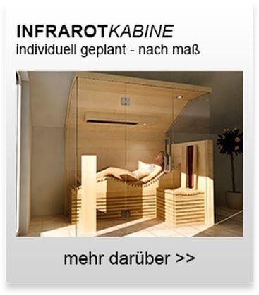 Individuelle Infrarotkabinen zum Liegen & Sitzen, vom ...