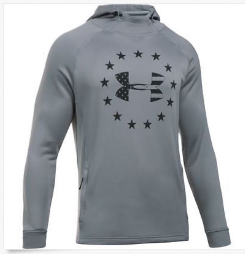 Under Armour Men S Ua Freedom Tech French Terry Hoodie Xxl 2xl Fashion Clothing Shoes Accessori French Terry Hoodie Long Sleeve Tshirt Men Under Armour Men