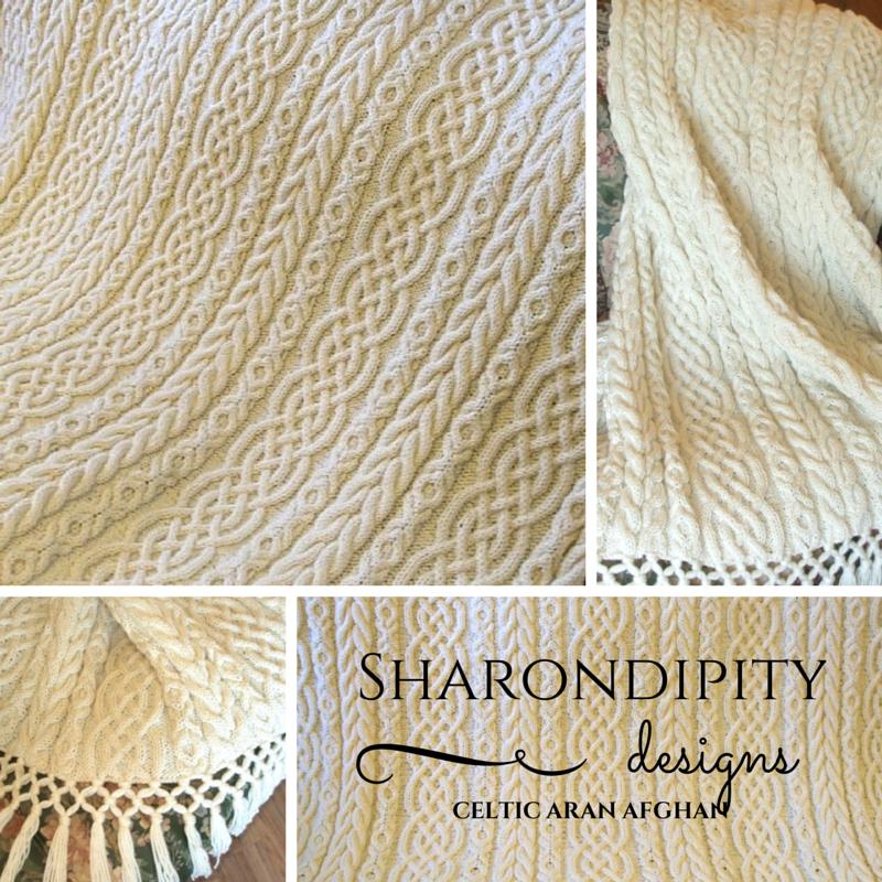 Sharondipity Designs: Celtic Aran Afghan Pattern | Needle crafts ...